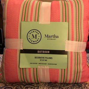 New Martha Stewart Outdoor decorative pillow set